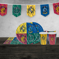 Harry Potter Birthday Party Set - Hogwarts Houses