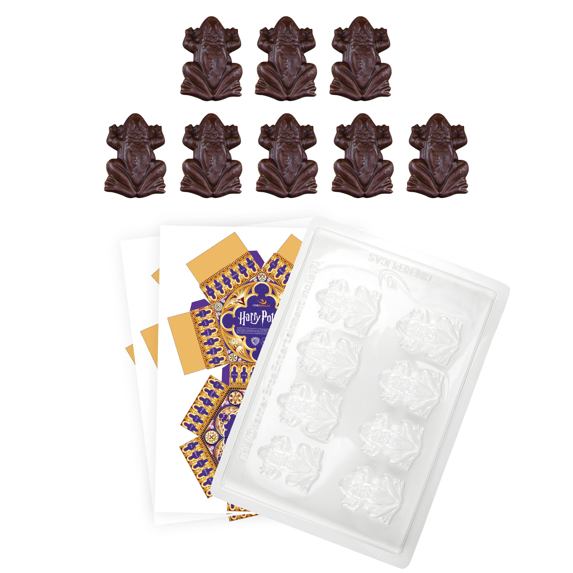 graphic about Harry Potter Chocolate Frog Cards Printable called Harrry Potter Chocolate Frog Mildew + 8 Do it yourself bins