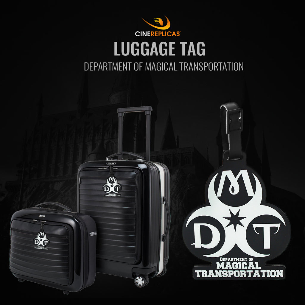 harry potter lugagge tag Department of Magical Transportation suitcases