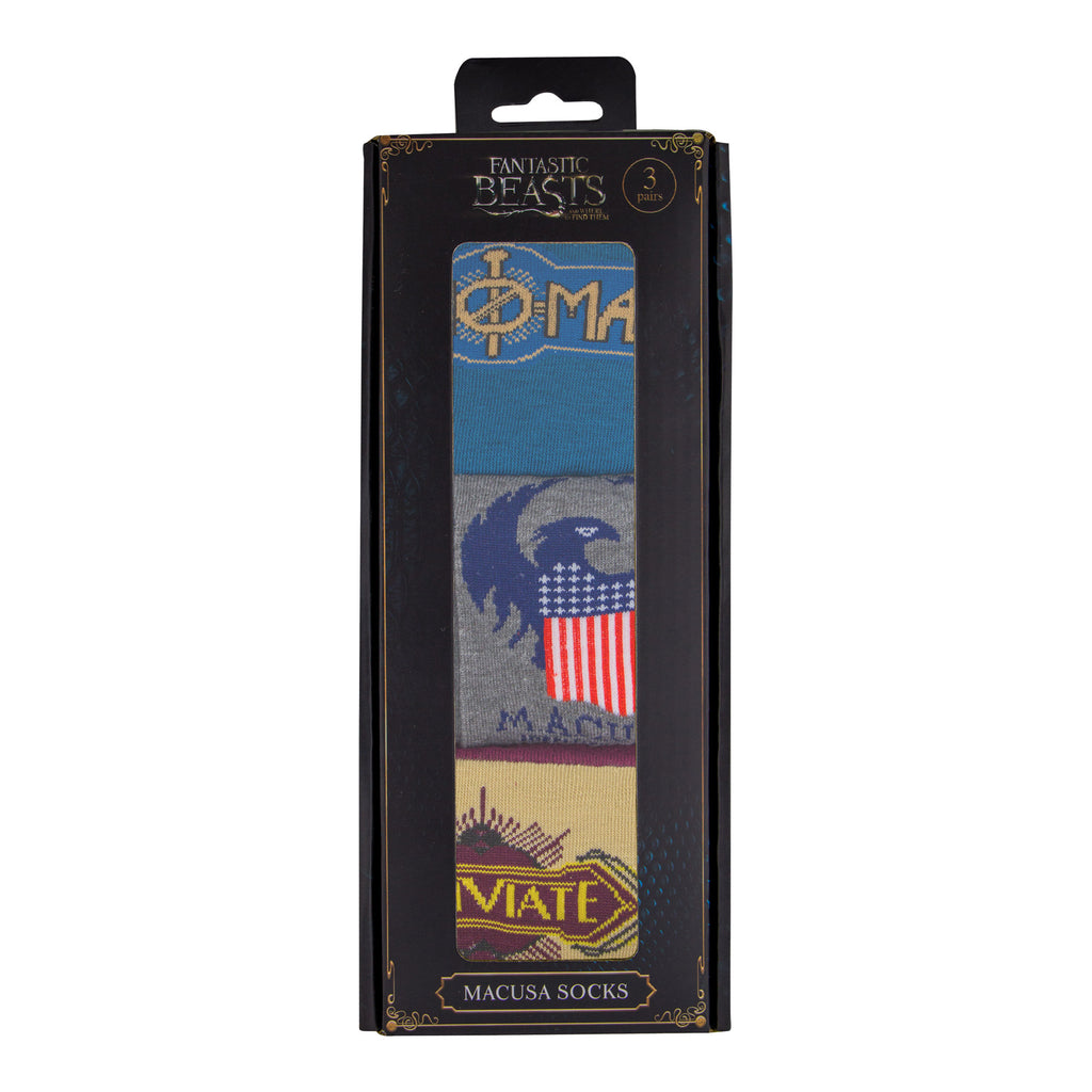 Fantastic Beasts socks Macusa packaging