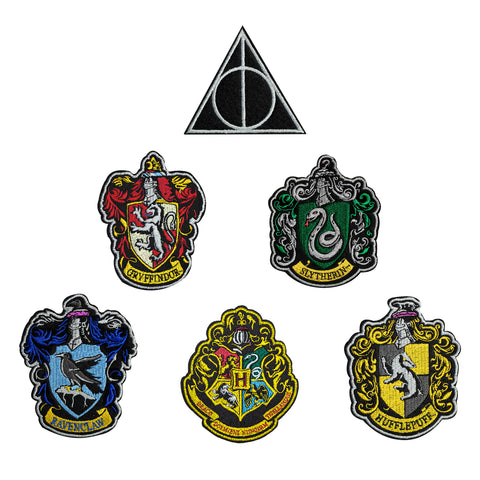 Pack of 6 Harry Potter Deluxe Edition Crests