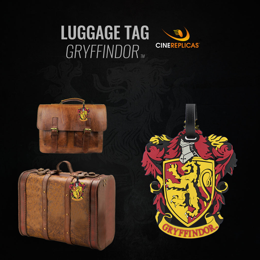 harry potter gryffindor luggage tag