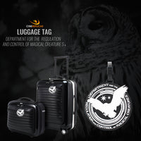 department for regulation and control of magical creatures lugagge tag