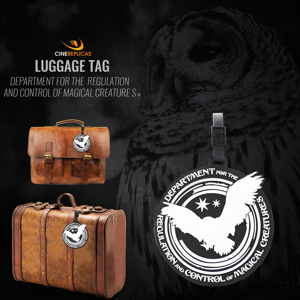 harry potter lugagge tag department for regulation and control of magical creatures suitcases