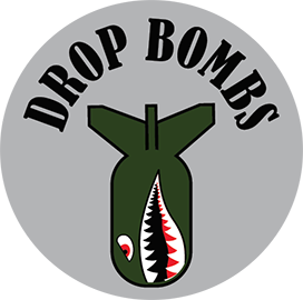 DROP BOMBS KNOB DECAL