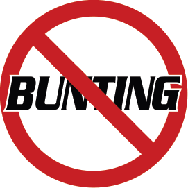 NO BUNTING BAT KNOB DECAL