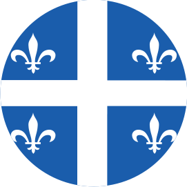 QUEBEC FLAG KNOB DECAL
