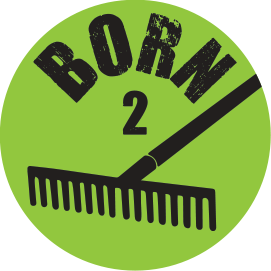 BORN 2 RAKE KNOB DECAL