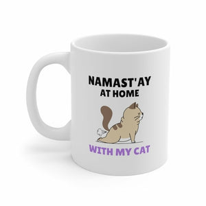 yoga namaste coffee mug