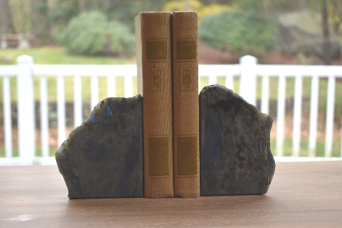 natural labradorite bookends
