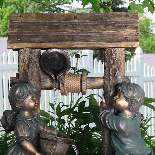Wishing well water fountain