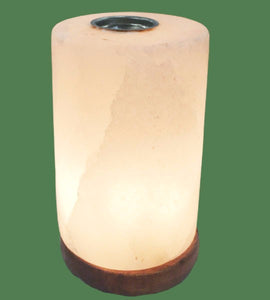 white salt lamp diffuser