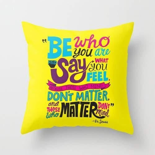 Be Who You Are Throw Pillow Accent Cushion - Uneedum