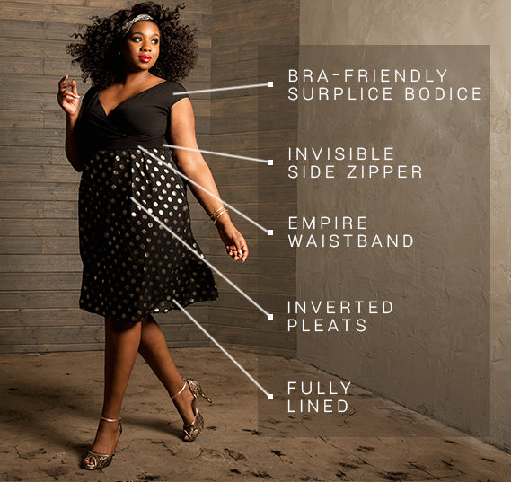 PLUS SIZE ADELLE DRESS