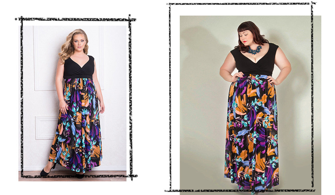 plus size fashion maxi dress