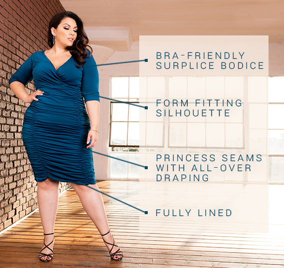 PLUS SIZE AMBROISIA DRESS