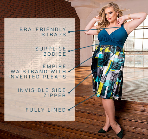 PLUS SIZE BENNETTA DRESS