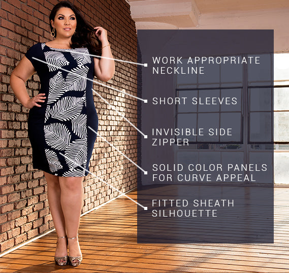 PLUS SIZE ELLE DRESS