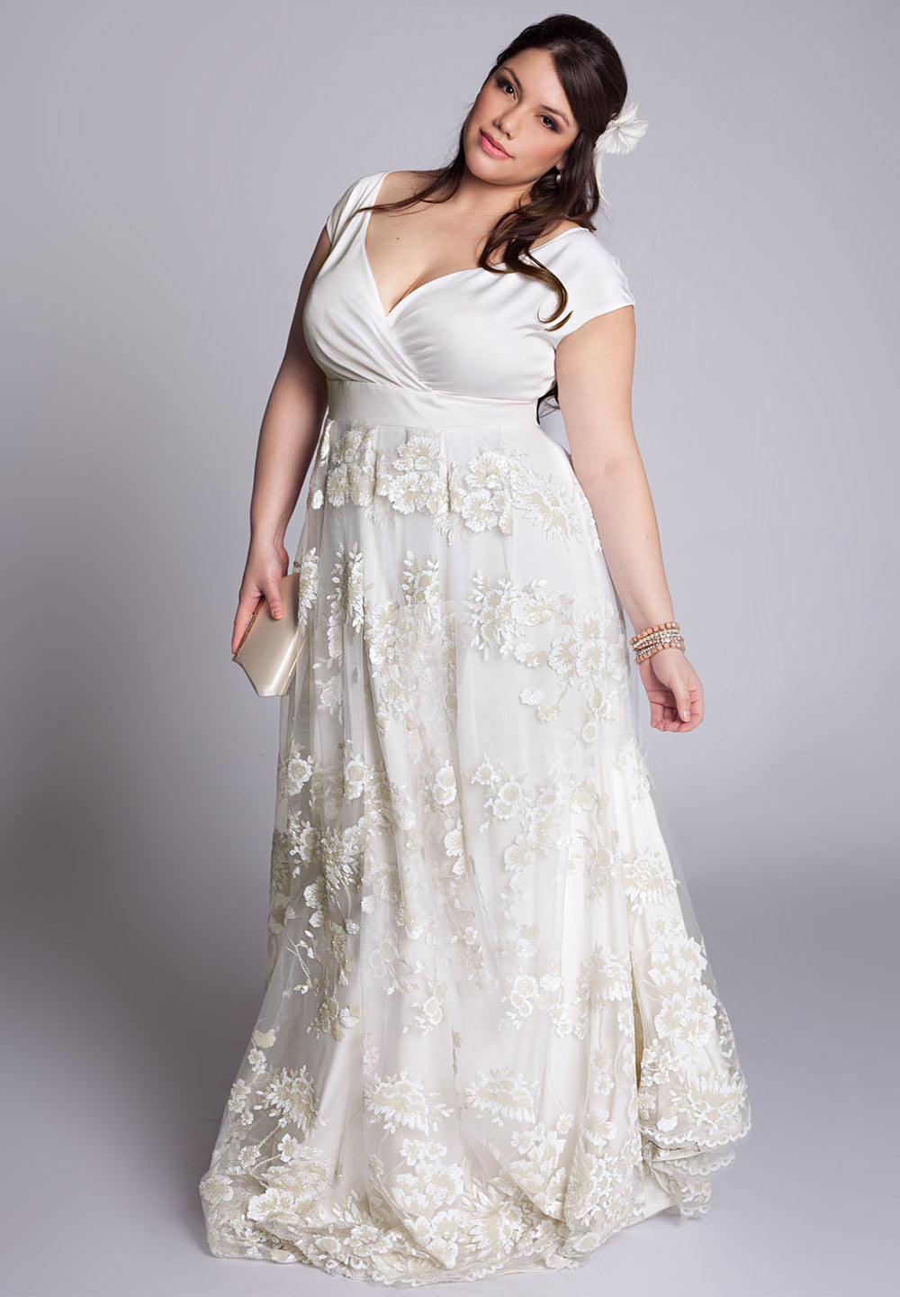 Eugenia Wedding Gown In Ivory
