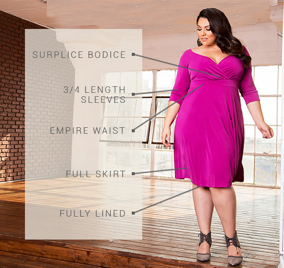 PLUS SIZE FRANCESCA DRESS
