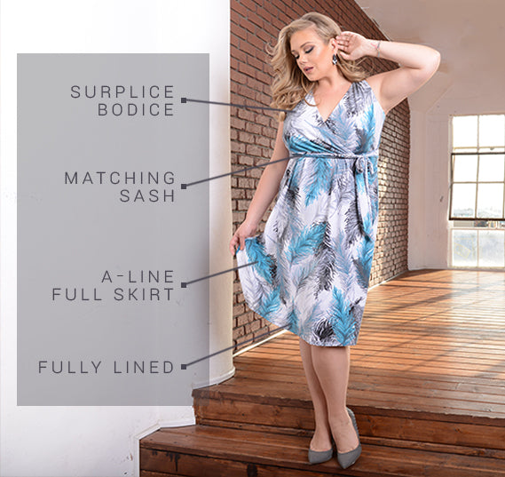 PLUS SIZE LINDSEY DRESS