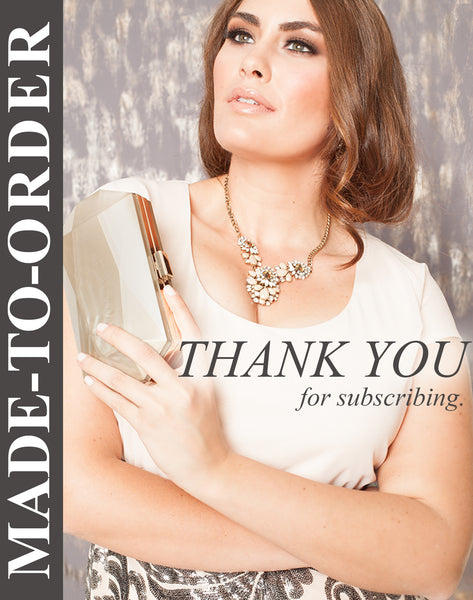 Made-To-Order Thank You