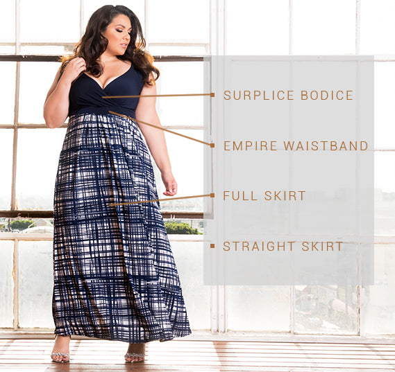 PLUS SIZE VALENCIA DRESS