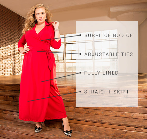 PLUS SIZE WREN DRESS