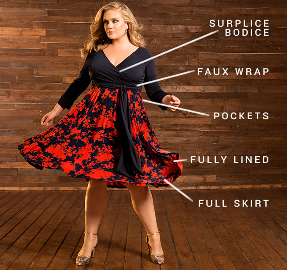 PLUS SIZE BELLISSIMA DRESS