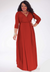 Dominique Dress in Scarlet 18/20 (Ready-To-Ship)