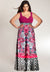 Adelle Plus Size Gown in Raspberry (Made To Order)