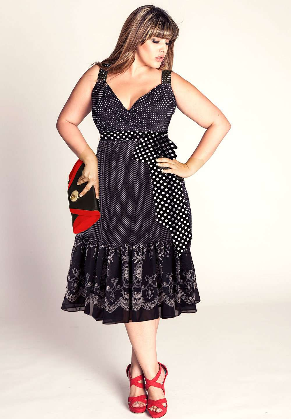 Alexis Plus Size Polka Dot Dress (Made To Order)