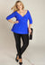 Arabelle Plus Size Tunic in Blue (Made To Order)