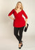 Arabelle Plus Size Tunic in Scarlet (Made To Order)