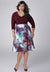 Ariene Plus Size Dress in Bordeaux (Made To Order)