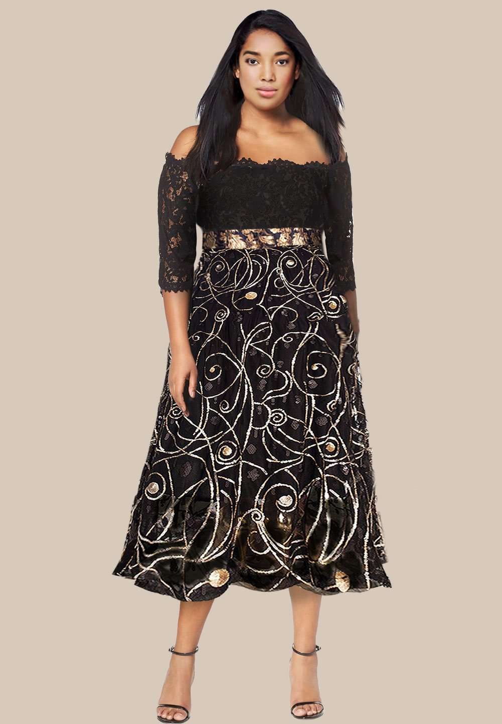 Buy Authentic newest official supplier Beatrix Plus Size Cocktail Dress (Made To Order)
