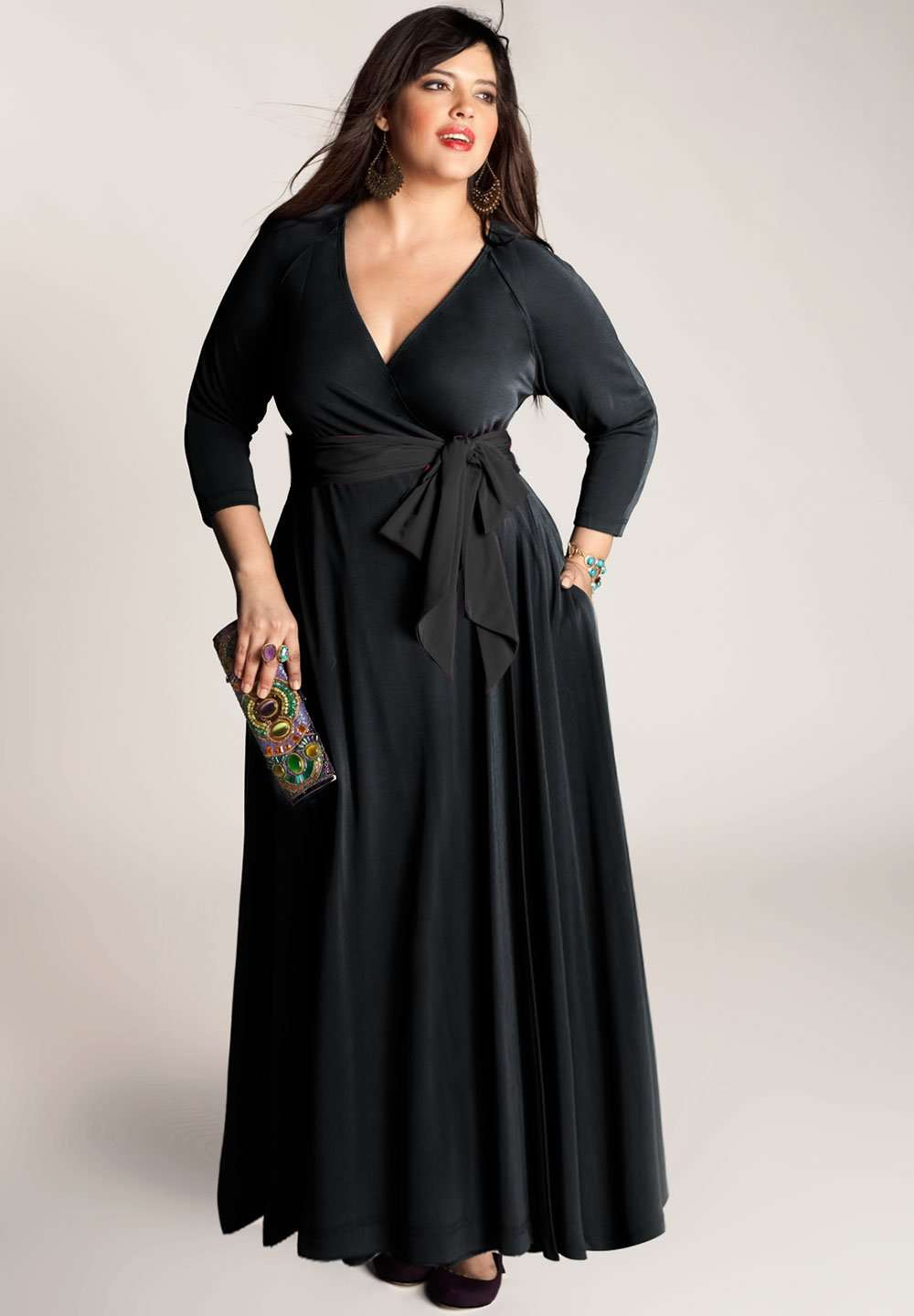 Bellissima Plus Size Wrap Dress (Made To Order)