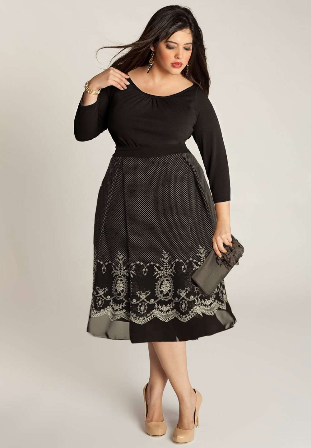 Braylee Plus Size Dress In Black (Made To Order)