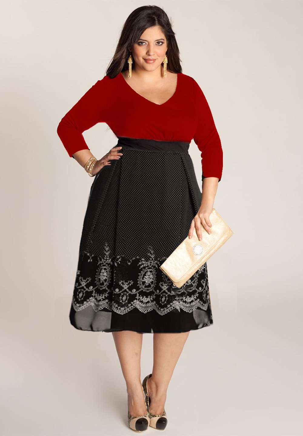 Braylee Plus Size Dress In Red (Made To Order)