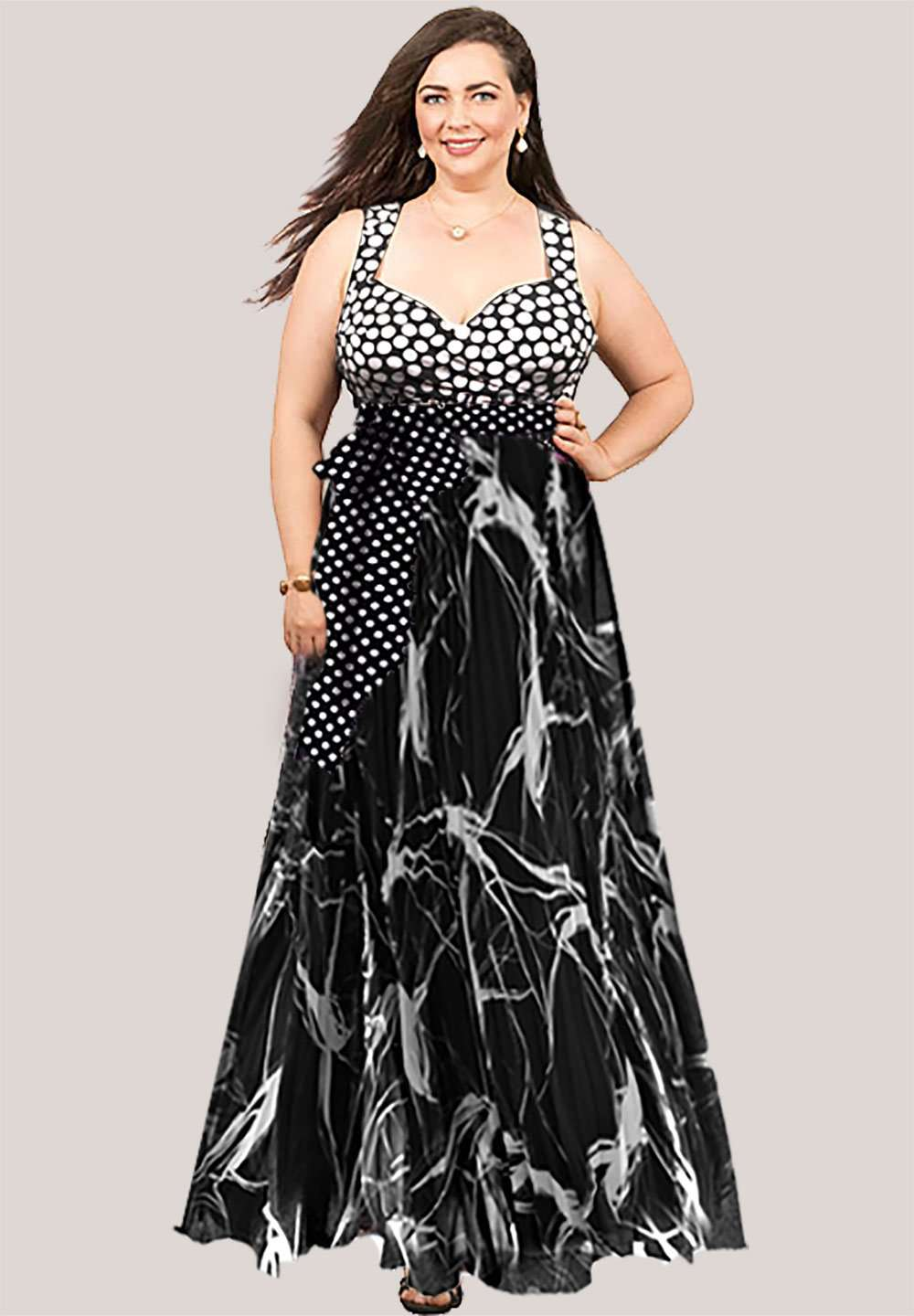 Callie Plus Size Maxi Dress (Made To Order)