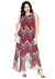 Kaia Red Chevron Print 18/20 (Ready-To-Ship)