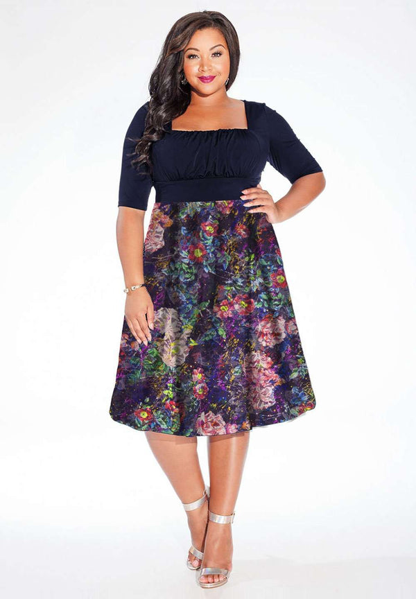 Hayleigh Dress in Floral Lace (Made-To-Order)