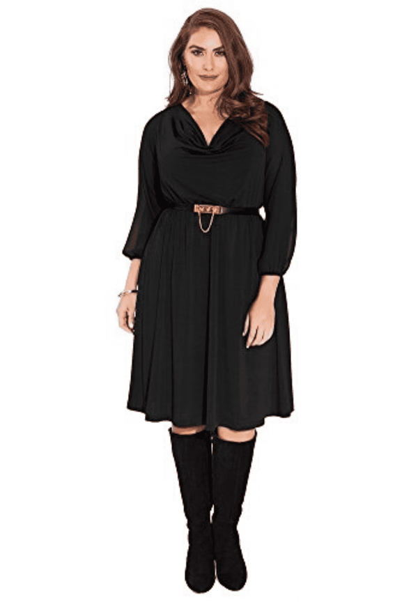 Soleil Dress in Black 22/24 (Ready-To-Ship)