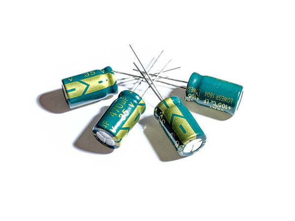 Low ESR Capacitors (470uF 35V) - 4pcs - CJ5FPV