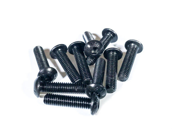 M3x12 Button Head Stainless Steel Screws - 10pcs