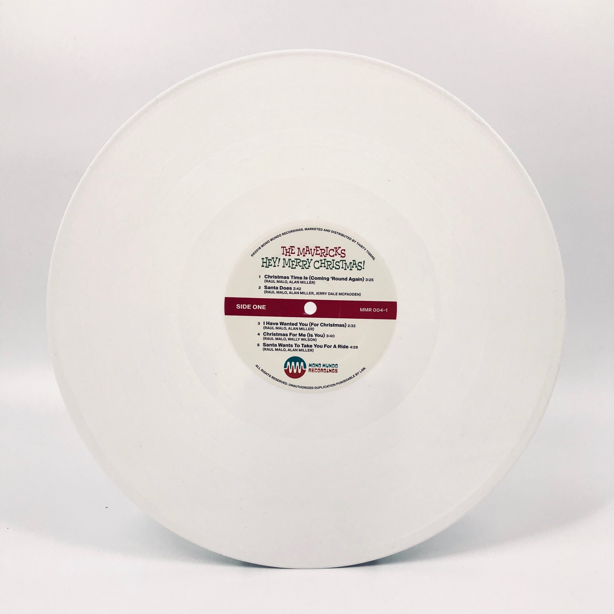 Autographed Hey! Merry Christmas! Limited Edition White Vinyl