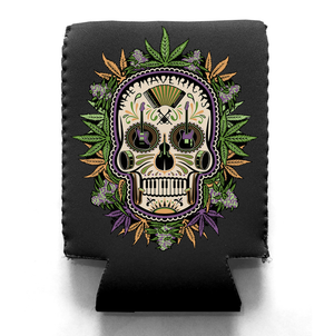 Flower Skull Canned Drink Koozie