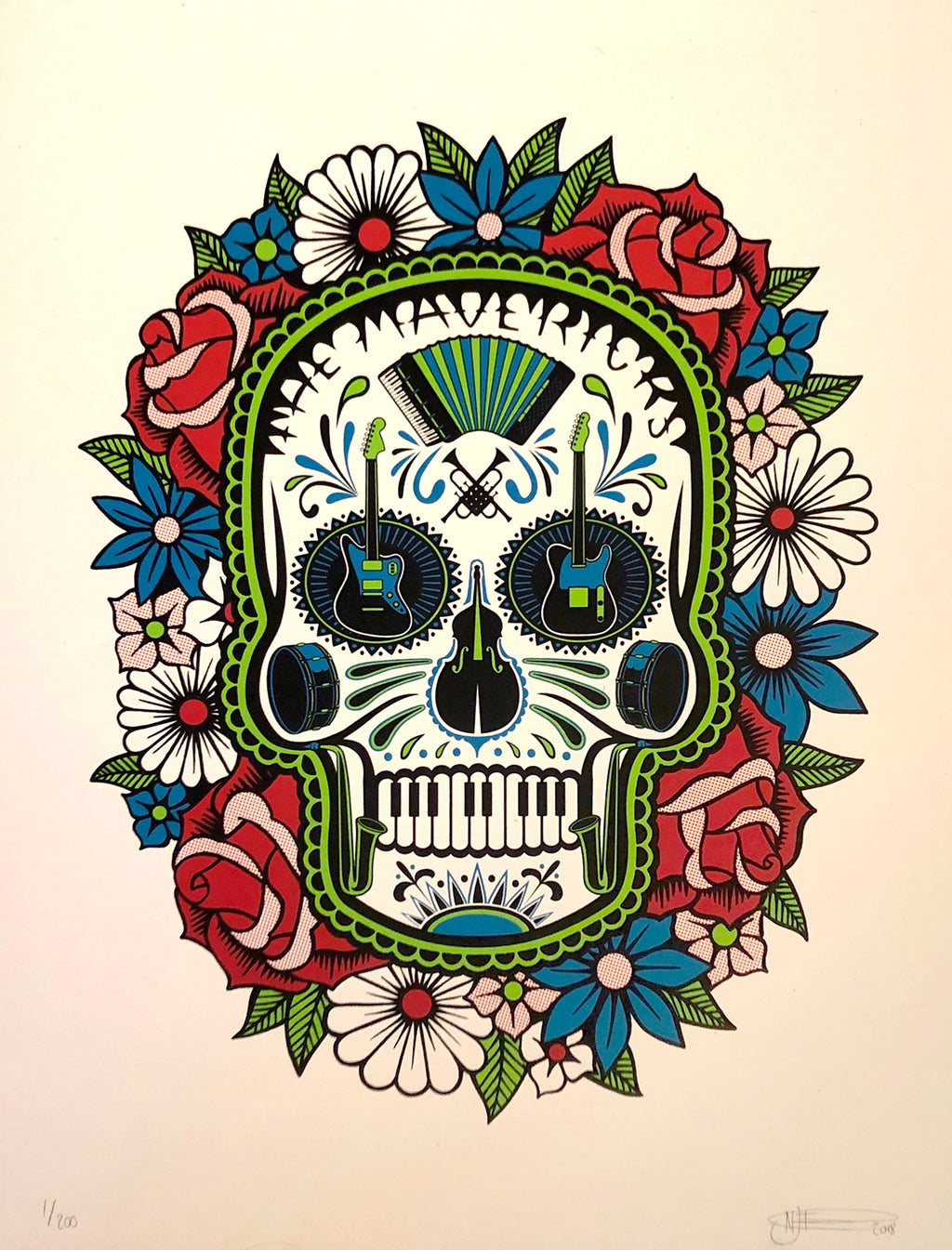Sugar Skull Poster - Autographed