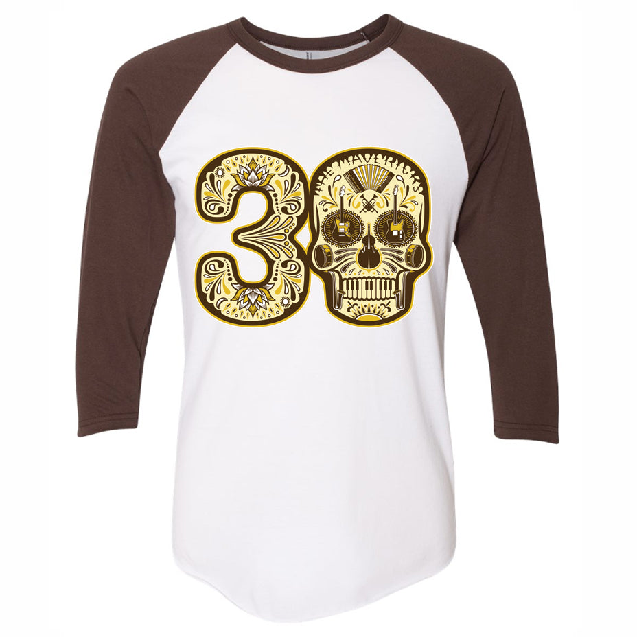 Play The Hits 30th Skull 3/4 Sleeve Shirt