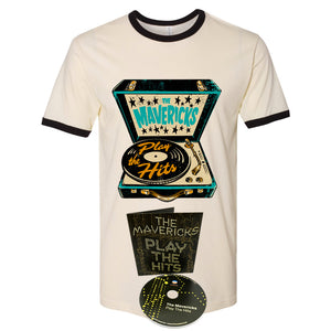 Play The Hits Record Player Shirt + CD
